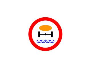 B-14: zakaz wjazdu pojazdów z towarami, które mogą skazić wodę
