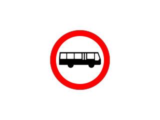 B-3a: zakaz wjazdu autobusów