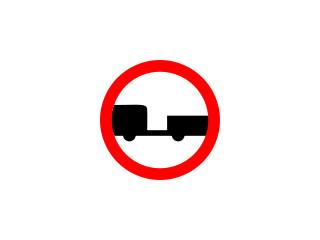 B-7: zakaz wjazdu pojazdów silnikowych z przyczepą