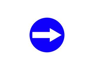 C-1: nakaz jazdy w prawo przed znakiem