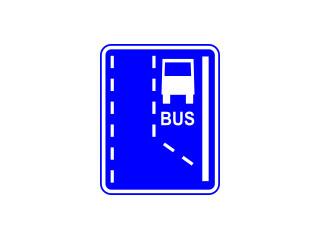 D-11: początek pasa ruchu dla autobusów
