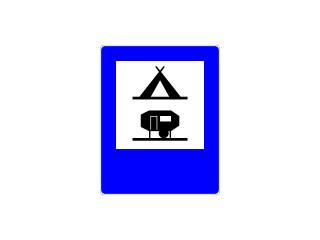 D-31: obozowisko (camping) wyposażone w podłączenia elektryczne dla przyczep kempingowych