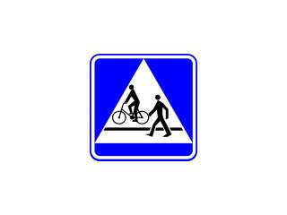 D-6b: przejście dla pieszych i przejazd dla rowerzystów