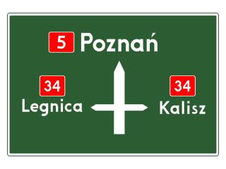 E-1: tablica przeddrogowskazowa