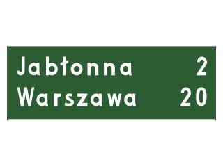 E-13: tablica kierunkowa